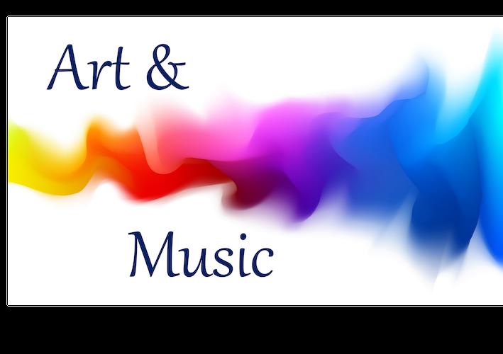 A rainbow colored stream of smoke - Art & Music