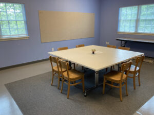 The Blue Room for classes and meetings
