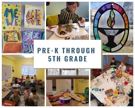 Children in classrooms - art project, stories