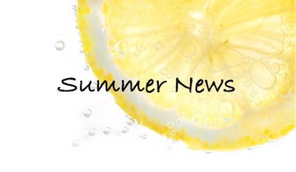 Lemon slice with sparkling bubbles - Summer News