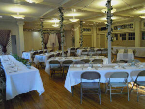 A reception in the Parish Hall