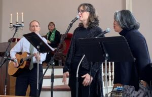 Guest musicians (all members) perform for service