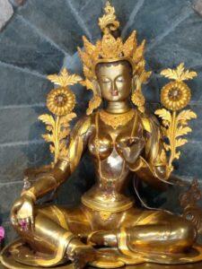 Twenty-One Taras is a traditional prayer in Tibetan Buddhism to the female Bodhisattva Tara