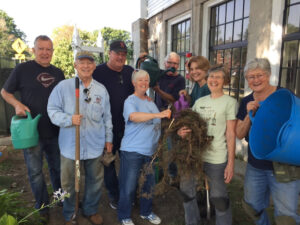 Some of the volunteers who have maintained our gardens