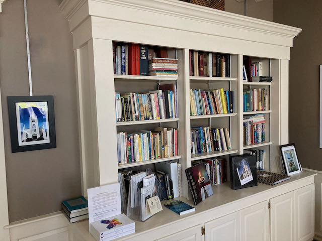 North Parish Library located in the Parlor, adjacent to the Parish Hall